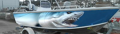 Mako Shark 3/4 Boat Wrap (Includes Left And Right ) Profiles