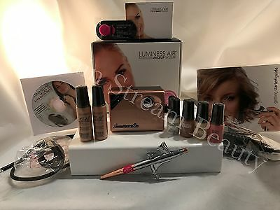 Luminess Air Airbrush Legend Rose Gold System&Pink Tip No Drip Stylus 6pc Medium