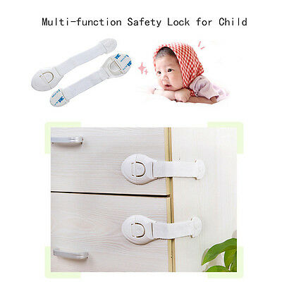 10X20X Child Infant Baby Toddler Safety Fridge Drawer Door Cabinet Cupboard Lock