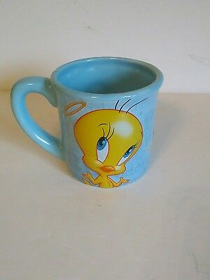Tweety Bird Warner Brothers Light Blue Large Coffee Mug 99% Angel Bros