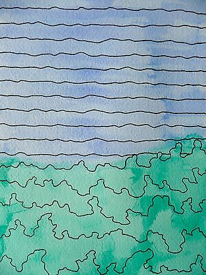 MICK PLOHL - Reef & Rainforest - Watercolour & Ink on Paper - Free Shipping