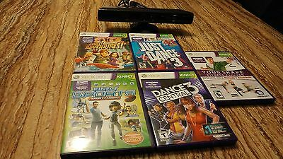 Kinect xbox 360 with 5 kinect games
