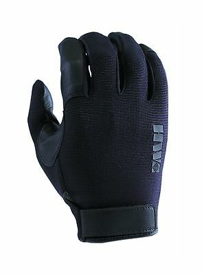 HWI Gear Spandex Knit and Goatskin Leather Glove Medium Black New