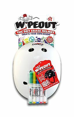 Triple Eight 604352040129 Wipeout Dry Erase Helmet White Medium/5+ Years New