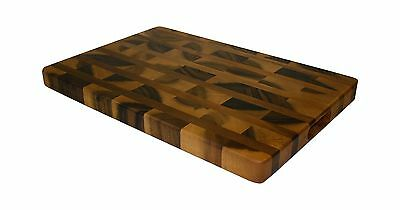 Mountain Woods Acacia Hardwood End Grain Cutting Board with Juice Groove New
