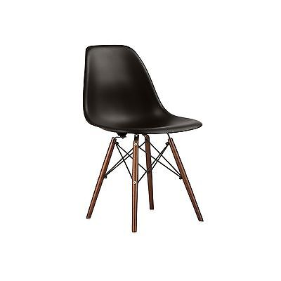 Nicer Furniture Set of Two (2) Black - Eames Style Side Chair with Walnut... New