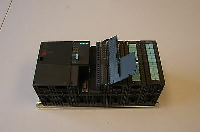 Siemens Simatic S7-300 PLC With CPU312 IFM DI10/DO6xDC24V W/PS and IO Moduals