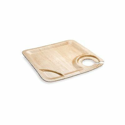 Restaurantware 50 Count Bamboo Leaf Plate with Cup Holder 9-Inch New