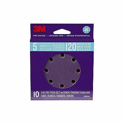 3M Pro Grade Sanding Disc 8-Hole 120 Grit 5-Inch 10-Count New