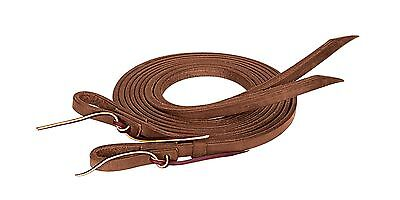 """Weaver Leather ProTack Oiled Split Rein 1/2-Inch x 8-Feet Brown 1/2"""" x 8' New"""