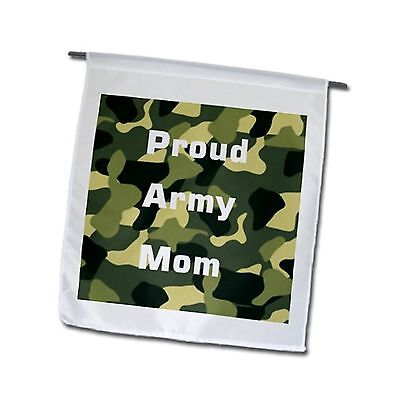 3dRose fl_162492_1 Proud Army Mom on Army Camouflage Garden Flag 12 by 18... New