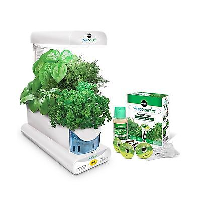 Miracle-Gro AeroGarden Sprout with Gourmet Herb Seed Pod Kit White New