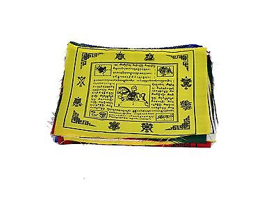 "Dharma Store - Tibetan Buddhist Prayer Flags 8"" x 8 "" Rolls of 25 - For l... New"