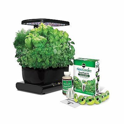 Miracle-Gro AeroGarden Harvest with Gourmet Herb Seed Pod Kit Black New