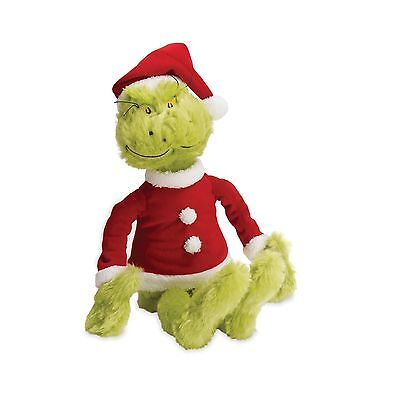 Manhattan Toy Dr. Seuss The Grinch in Santa Suit Plush New