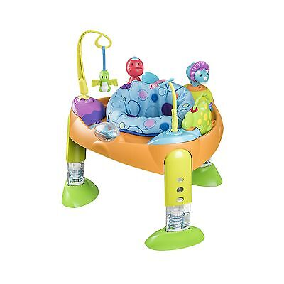 Evenflo Exersaucer Fold and Go Bounce-a-Saurus Orange/ Blue/ Yellow/ Green New