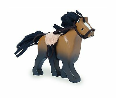 Le Toy Van Horse Walking Brown with Saddle New