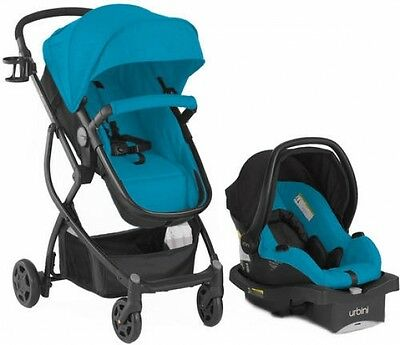 Urbini Omni Plus 4-in-1 Travel System Carriage Infant Carrier Baby Seat Teal