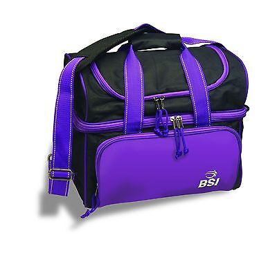 BSI Taxi Single Ball Tote Bag Black/Purple New