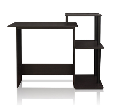 Furrino Computer Desk For Home, Small Spaces, Home Office Espresso/Black New