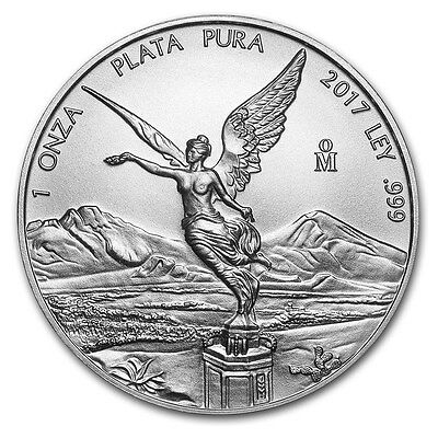 2017 Mexican Libertad 1 oz .999 Silver BU Round Very Limited Bullion AG-47 Coin