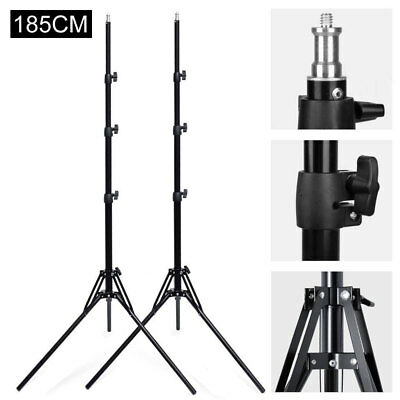 AU 2X 185cm Reverse Folding Light Stand for Photo Studio Lighting Flash Strobe