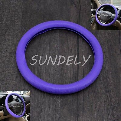 UK Car steering wheel cover WHEEL Leather Texture Soft Cover Skin HOT Purple