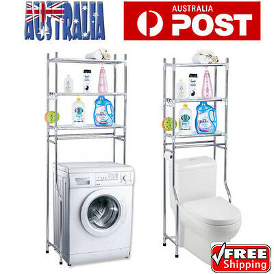 Over Toilet Bathroom Laundry Washing Machine Storage Rack Shelf Unit Organizer