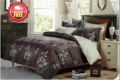 S233 Queen/King/Super King Size Bed Quilt/Duvet/Doona Cover Set Euro Pillowcases