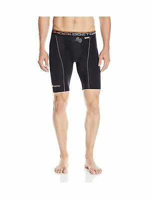 Shock Doctor 337 Men's Ultra Pro Compression Shorts with Ultra Cup Black ... New