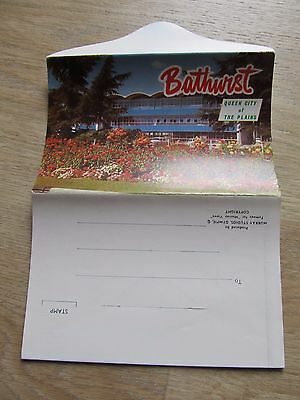 Vintage Murray Views Foldout Colour View Folder, Bathhurst NSW - unused