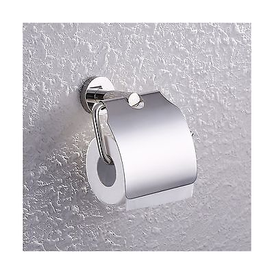 KES A2170 Stainless Steel Toilet Paper Holder Single Roll with Cover Poli... New