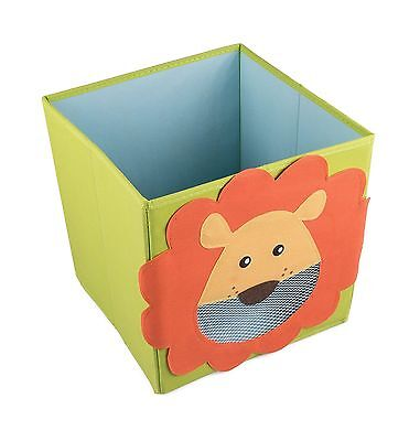 Smiling Lion Collapsible Toy Storage Box and Closet Organizer for Kids New
