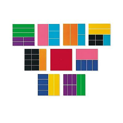 Learning Resources Deluxe Rainbw Fraction Squares New