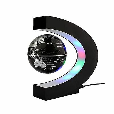 Floating Globe Rotating World Map Earth Planet Ball with C Shaped Magneti... New
