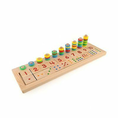 Colourful Montessori Teaching Tool Math Number Wood Board Preschool Toy K... New