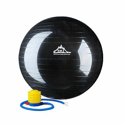 Black Mountain Products Anti Burst Exercise Stability Ball with Pump Blac... New