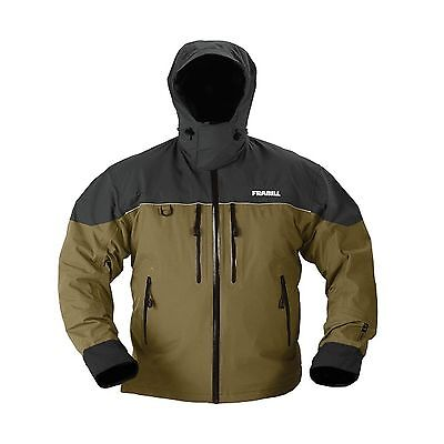 Frabill F3 Gale Rainsuit Jacket Charcoal Grey/Brown Large New