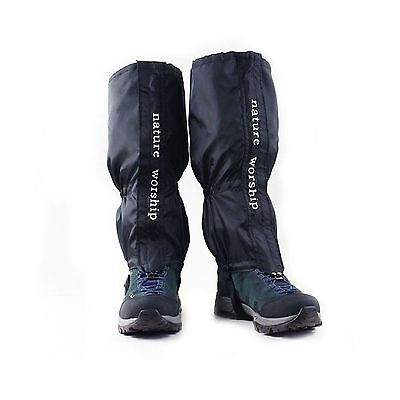 Nature Worship 1 Pair Unisex Waterproof Gaiters Outdoors Sport Camping Hi... New