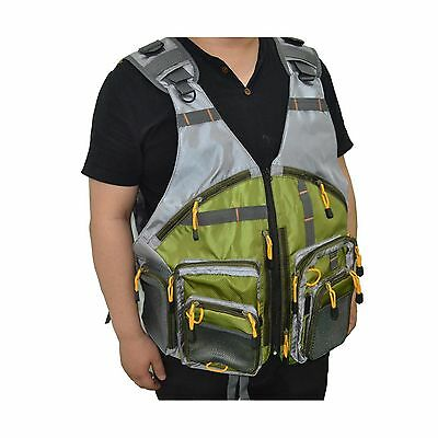 SUNVP Uncle Fly Fishing Mesh Vest With Hunting Pockets Oversize New