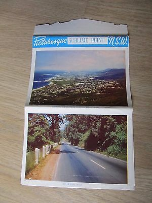 Vintage C1950's Pitt Colour & B/W View Folder, SUBLIME POINT NSW- unused