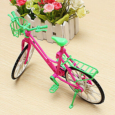 1:6 New Toy Plastic Bike Bicycle With Basket For Barbie Doll Outdoor Accessories