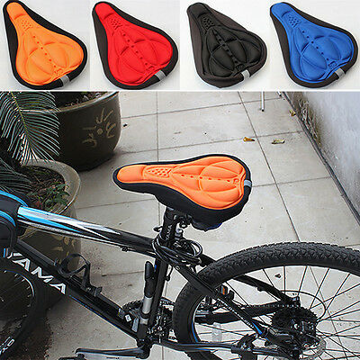 WL Bicycle 3D Silicone Saddle Seat Soft Pad Cycling Bike Cover Gel Cushion Cover