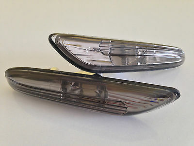 "Side Indicator Clear Glass BMW E46 FL,5 Series E60 and X3 ""Smoke Look""! Top"