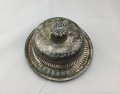 Vintage Viking Plate Round Serving/Butter Dish with Lid E P Copper Canada