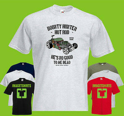 Bounty Hunter Hotrod PRINTED T-SHIRT Hot Rod Boba Fett Star Wars Empire Engine
