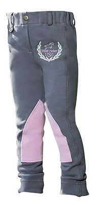 USG Little Rider Jodhpurs Grey - Rider Wear