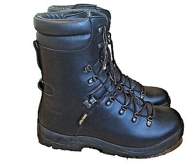 Extreme Cold Weather Black Goretex Lined Military Boots British Army Surplus