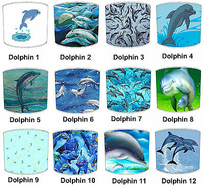 Dolphin Lampshades Ideal To Match Dolphin Cushion Covers & Dolphin Duvet Covers.