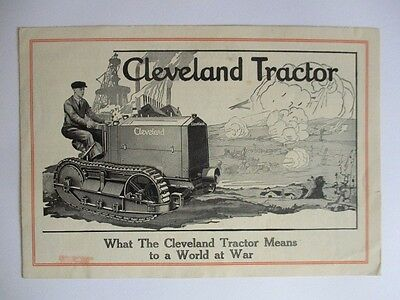 Cleveland Tractor Company Cletrac Model H Brochure War Time Piece Very Rare!